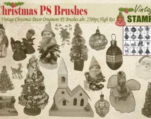 Vintage Christmas PS Brushes  Photoshop brush
