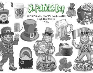 "20 ""St Patricks Day"" PS Brushes abr.Vol.3 Photoshop brush"