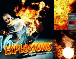 16 Photorealistic Explosion Brushes Photoshop brush