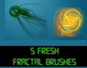 5 Fresh Fractal Brushes  Photoshop brush