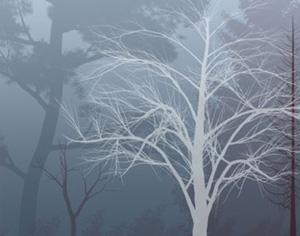 Fall and Winter Trees Photoshop brush