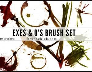Exes & O's Brush Pack Photoshop brush
