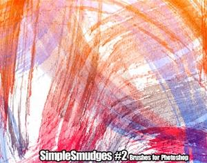 Simple Smudges No.2 Photoshop brush