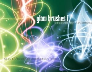 Glow Brushes I Photoshop brush