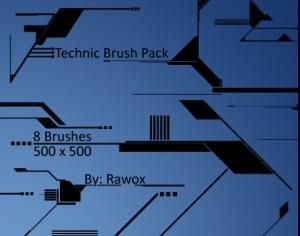 Tech Brush Pack Photoshop brush