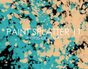 Free Paint Splatter Photoshop Brushes 11 Photoshop brush