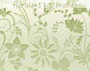 Floral Brushes 5 Photoshop brush