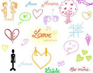 .Love Doodles. Photoshop brush