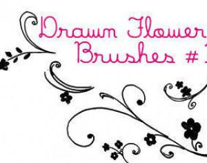 Drawn Flower Brushes Photoshop brush