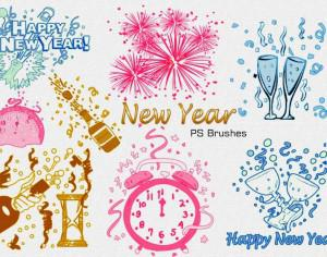 20 New Year PS Brushes abr. Vol.3 Photoshop brush