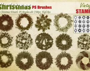 Christmas Wreath PS Brushes Photoshop brush