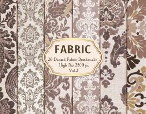 20 Damask Fabric Brushes.abr  Vol.2 Photoshop brush