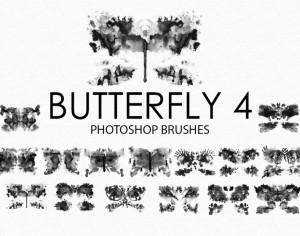 Free Watercolor Butterfly Photoshop Brushes 4 Photoshop brush