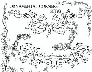 Ornamental Corners set 3 Photoshop brush