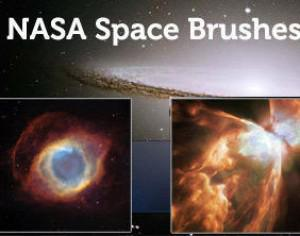 8 Nasa Space & Nebula Brushes Photoshop brush