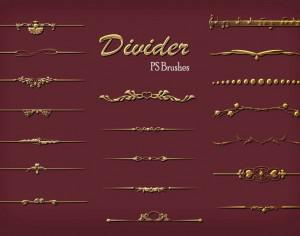 20 Divider Ps Brushes abr. vol.7 Photoshop brush