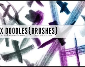 X Doodle Brush Stroke Brushes Photoshop brush