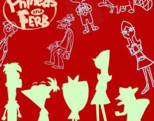 Phineas and Ferb Brushes Photoshop brush