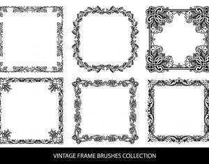 Decorative Vintage Frame Brushes Photoshop brush
