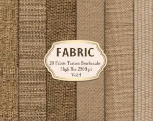 20 Fabric Texture Brushes.abr  Vol.4 Photoshop brush