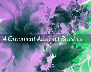 4 Ornament Abstract Brushes Photoshop brush