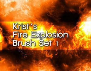 Krist's Fire Brush Set 1 Photoshop brush