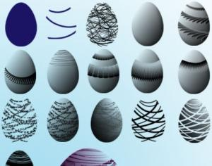 Easter Egg Brushes Photoshop brush