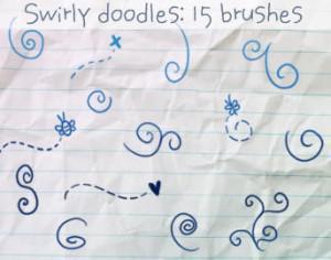 Swirly Doodles Brushes Photoshop brush