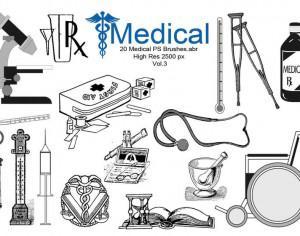 20 Medical PS Brushes.abr  Vol.3 Photoshop brush