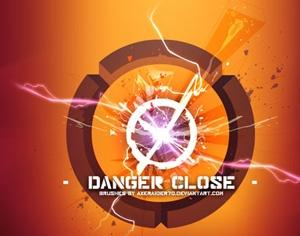 Danger Close Photoshop brush