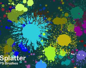 20 Splatter Color PS Brushes abr vol.2 Photoshop brush