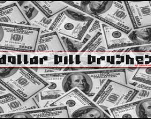 Dollar Bills Photoshop brush
