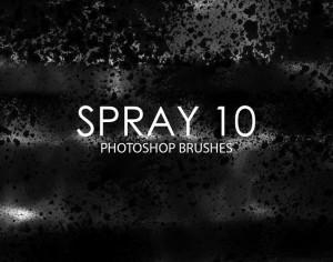 Free Spray Photoshop Brushes 10 Photoshop brush