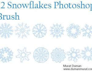 Free snowflakes photoshop brush Photoshop brush