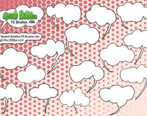20 Speech Bubbles PS Brushes abr vol 6 Photoshop brush