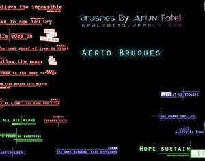 Aerio Text Brushes Photoshop brush