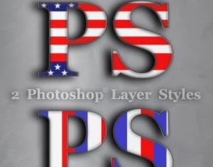 USA Photoshop Styles Photoshop brush