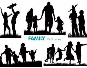 20 Family Silhouette PS Brushes abr.vol.2 Photoshop brush