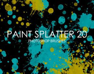 Free Paint Splatter Photoshop Brushes 20 Photoshop brush