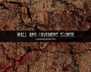 Walls and Pavement Grunge Photoshop brush