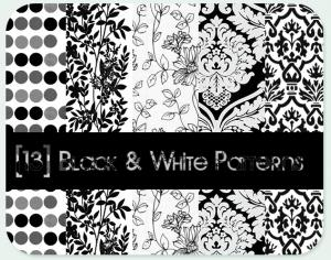 Black - White patterns Photoshop brush