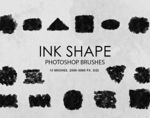 Free Ink Shapes Photoshop Brushes Photoshop brush