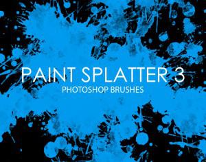 Free Paint Splatter Photoshop Brushes 3 Photoshop brush