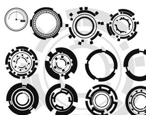 Circular Tech Brushes Photoshop brush