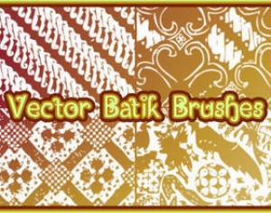 Vector Batik Photoshop brush