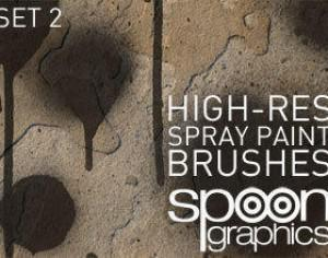 Hi-Res Spraypaint Photoshop Brushes - Set Two Photoshop brush