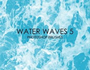 Free Water Waves Photoshop Brushes 5 Photoshop brush
