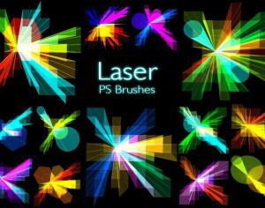 20 Laser PS Brushes abr. vol.12 Photoshop brush
