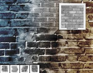 Brick in the Wall brushes and pattern Photoshop brush