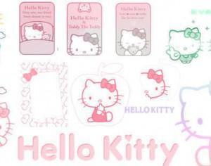 HELLO KITTY BRUSHES Photoshop brush
